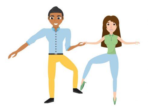 Pareja bailando 123RF