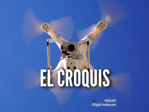 Un dron puede hacer croquis de accidentes de tránsito