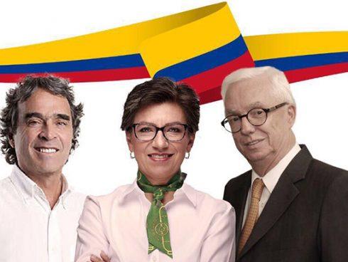 Foto: Sergio Fajardo, Claudia Lopez y Jorge Robledo