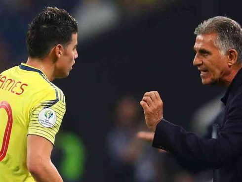 Queiroz habla con James Rodríguez | Foto: Getty Images