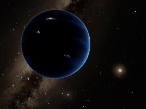 Un noveno planeta... (Representación artística)