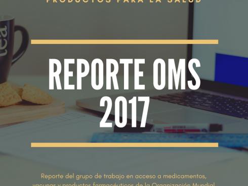 Reporte OMS acceso a medicamentos 2017