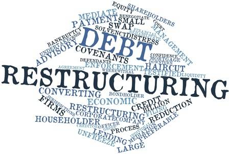 17020530-abstract-word-cloud-for-debt-restructuring-with-related-tags-and-terms