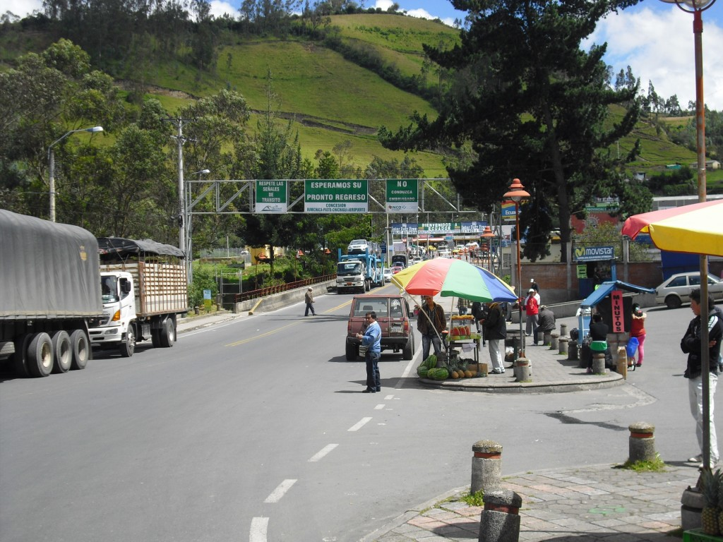 The Colombian-Ecuador border, Rumichaca.