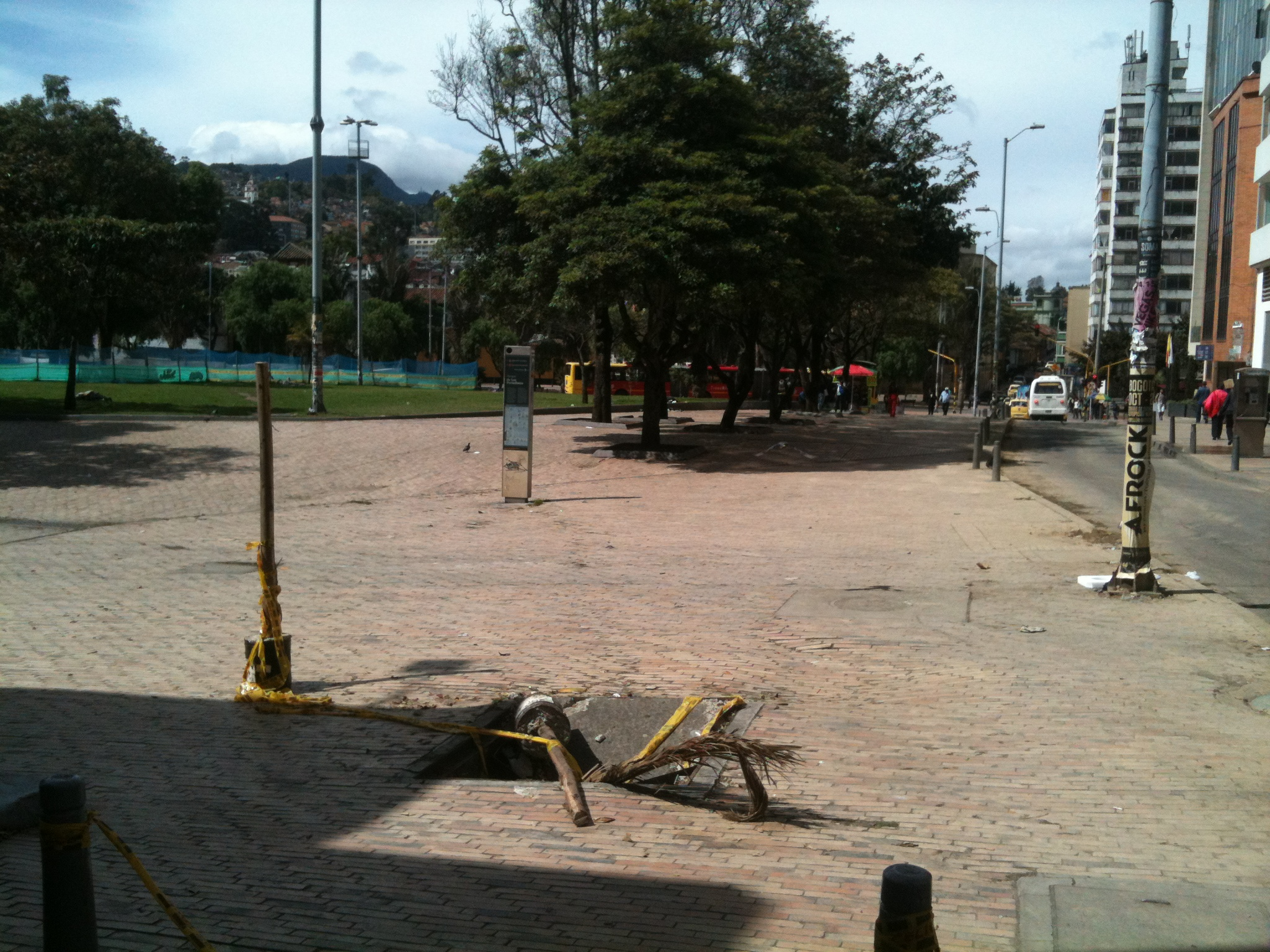 Neglected manholes in Colombia's capital city, Bogotá DC.