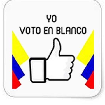 Voto En Blanco, Colombian presidential election 2018