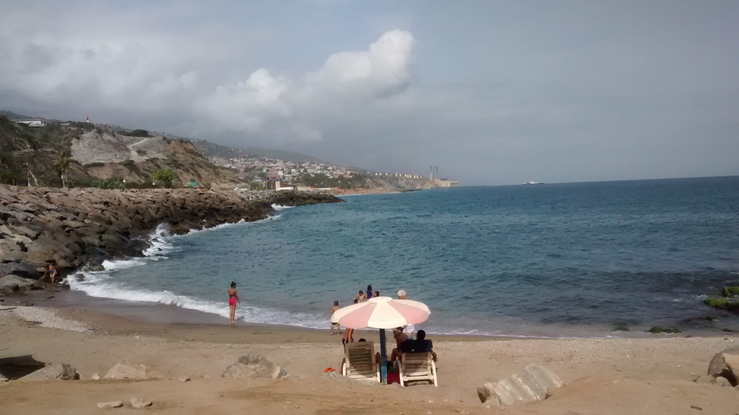 The beach at La Guaira, Vargas, Venezuela.