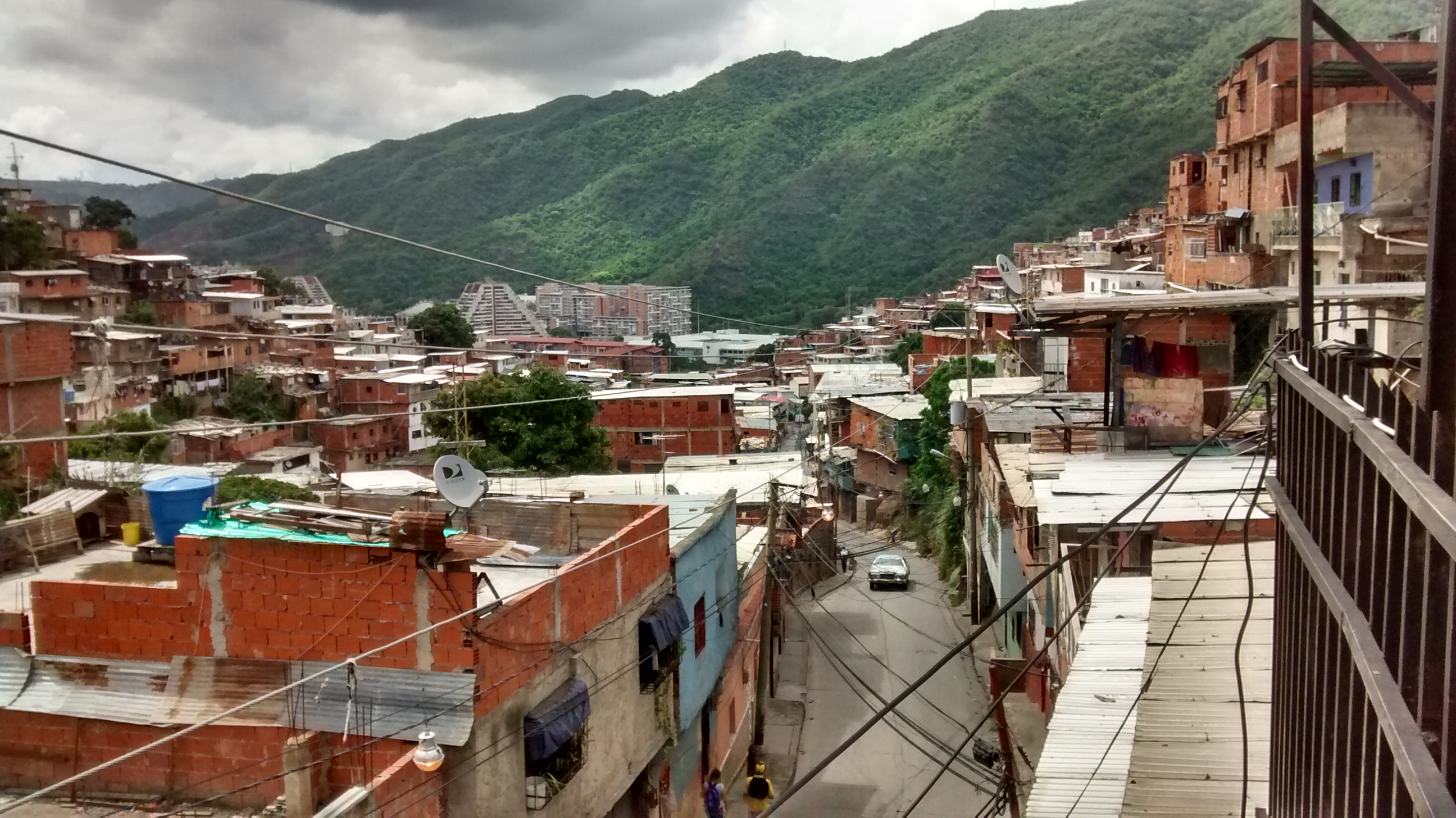 A view from the rooftop of my lodgings in the Venezuelan capital Caracas, in the Carapita/Antimano area of the city.