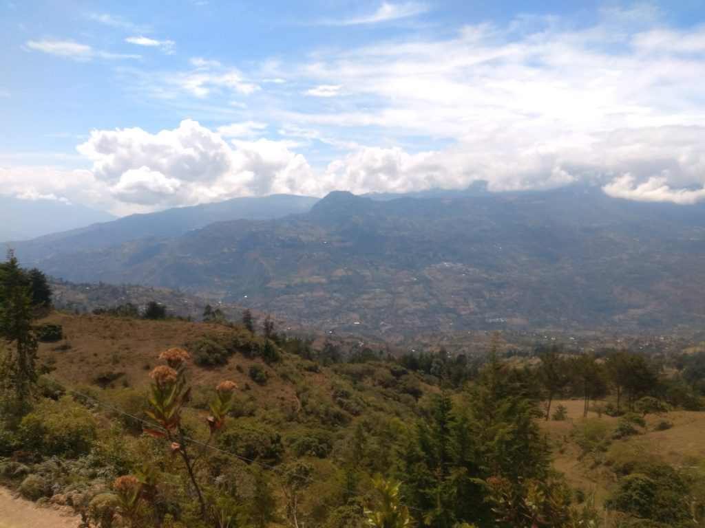 The impressive countryside around Guateque, Boyacá, Colombia.