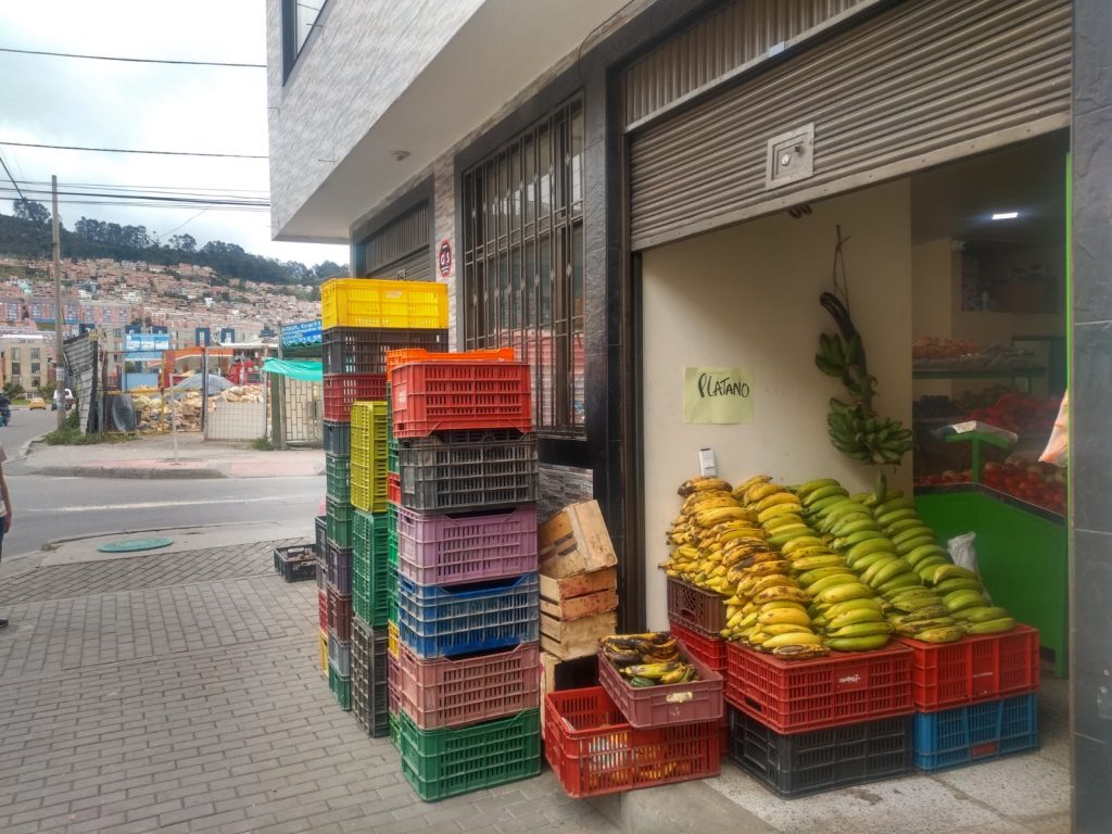 Yet another fruit and veg shop opens up in north Bogotá, Colombia.