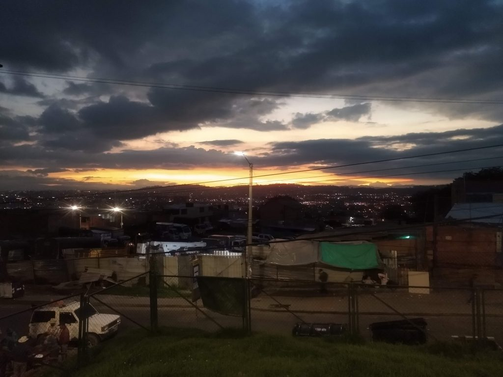 North Bogotá at dusk, as viewed from Codito.