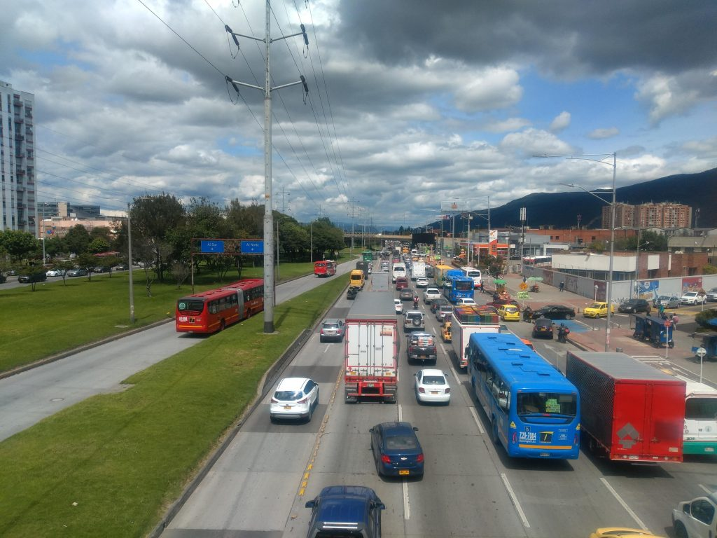 The Great Reset: We'll cut down on the use of mechanically powered transport for starters. (Photo is of traffic in the north of Bogotá, Colombia.)