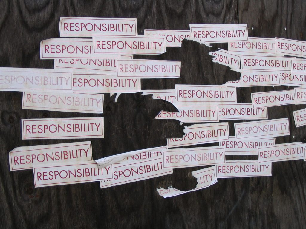 The art of growing up and taking responsibility. It's not a given for everybody.